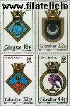 Gibraltar gib 548#551  1988 Scheepswapens  Postfris