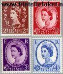 Groot-Brittannië   1959 Koningin Elizabeth grafiet-fosfor  Postfris