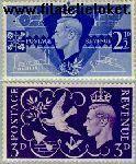 Groot-Brittannië grb 231#232  1946 Bevrijding  Postfris