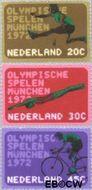 Nederland NL 1012#1014  1972 Olympische Spelen- München  cent  Gestempeld