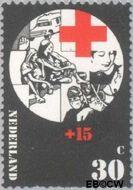 Nederland NL 1018  1972 Rode Kruis 30+15 cent  Postfris
