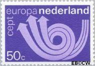 Nederland NL 1031  1973 C.E.P.T.- Posthoorn 50 cent  Gestempeld