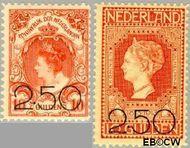 Nederland NL 104#105  1920 Opruimingsuitgifte  cent  Gestempeld