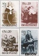 Nederland NL 1059#1062  1974 Oude kinderfoto's  cent  Gestempeld