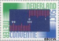 Nederland NL 1076  1975 Meterconventie 50 cent  Gestempeld