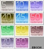 Nederland NL 1108a#1118a  1976 Cijfer type 'Crouwel'  cent  Postfris