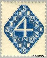Nederland NL 113  1923 Diverse voorstellingen 4 cent  Gestempeld