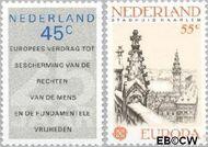 Nederland NL 1157#1158  1978 C.E.P.T. en Rechten van de  Mens  cent  Gestempeld