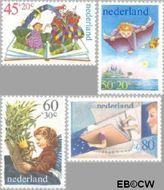 Nederland NL 1210#1213  1980 Kind en boeken  cent  Gestempeld