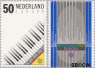 Nederland NL 1333#1334  1985 C.E.P.T.- Europees Jaar van de Muziek  cent  Gestempeld