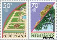 Nederland NL 1353#1354  1986 C.E.P.T.- Natuur en milieu  cent  Gestempeld