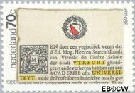 Nederland NL 1357  1986 Universiteit Utrecht 70 cent  Postfris