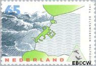 Nederland NL 1361  1986 Voltooiing Deltawerken 65 cent  Gestempeld