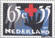 Nederland NL 1382  1987 Rode Kruis- Activiteiten 65+35 cent  Gestempeld