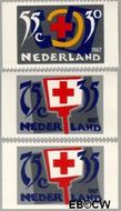 Nederland NL 1384a#1384c  1987 Rode Kruis- Activiteiten  cent  Gestempeld