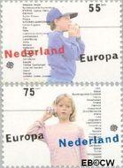 Nederland NL 1428#1429  1989 C.E.P.T.- Kinderspelen  cent  Gestempeld