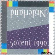 Nederland NL 1461#  1990 Winterlandschap  cent  Gestempeld