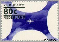 Nederland NL 1605  1994 K.L.M. 80 cent  Postfris
