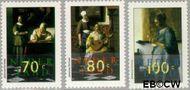 Nederland NL 1664#1666  1996 Vermeer, Johannes  cent  Gestempeld