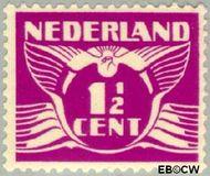 Nederland NL 171  1928 Vliegende Duif 1½ cent  Gestempeld
