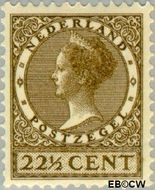 Nederland NL 190  1927 Koningin Wilhelmina- Type 'Veth' 22½ cent  Gestempeld