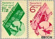 Nederland NL 238#239  1931 Goudse Glazen   cent  Gestempeld