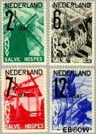Nederland NL 244#247  1932 A.N.V.V.   cent  Gestempeld