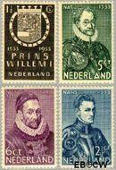 Nederland NL 252#255  1933 Prins Willem I   cent  Gestempeld
