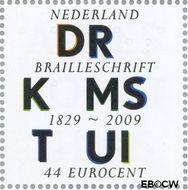 Nederland NL 2624  2009 Lees Mee- Braille 44 cent  Gestempeld