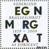 Nederland NL 2629  2009 Lees Mee- Braille 44 cent  Gestempeld