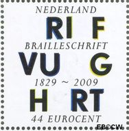 Nederland NL 2634  2009 Lees Mee- Braille 44 cent  Gestempeld