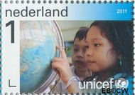 Nederland NL 2824  2011 UNICEF 65 jaar 1 cent  Gestempeld