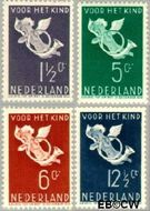 Nederland NL 289#292  1936 Bazuinengel   cent  Gestempeld