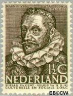 Nederland NL 305  1938 Bekende personen 1½+1½ cent  Postfris