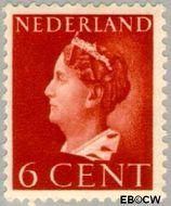 Nederland NL 333  1940 Wilhelmina- Type 'Konijnenburg' 6 cent  Gestempeld