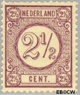 Nederland NL 33a  1894 Drukwerkzegels- cijfer 2½ cent  Gestempeld