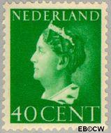 Nederland NL 343  1940 Wilhelmina- Type 'Konijnenburg' 40 cent  Gestempeld