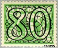 Nederland NL 370  1940 Cijfer type 'Guilloche' of ' tralie' 80 cent  Gestempeld