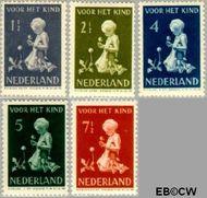 Nederland NL 374#378  1940 Kind met bloemen   cent  Gestempeld