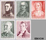 Nederland NL 392#396  1941 Bekende personen   cent  Gestempeld