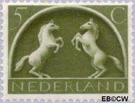 Nederland NL 411  1943 Germaanse symbolen 5 cent  Gestempeld