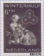 Nederland NL 423  1944 Winterhulp-Volksdienst 1½+3½ cent  Postfris