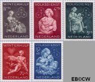 Nederland NL 423#427  1944 Winterhulp-Volksdienst   cent  Gestempeld