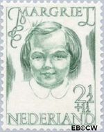 Nederland NL 455  1946 Prinsessen 2½+1½ cent  Gestempeld