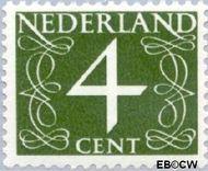 Nederland NL 464  1946 Cijfer type 'van Krimpen' 4 cent  Gestempeld
