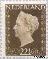 Nederland NL 482  1947 Koningin Wilhelmina- Type 'Hartz' 22½ cent  Gestempeld