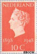 Nederland NL 504  1948 Koningin Wilhelmina- Regeringsjubileum 10 cent  Postfris