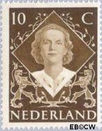 Nederland NL 506  1948 Koningin Juliana- Inhuldiging 10 cent  Gestempeld