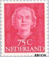 Nederland NL 533  1951 Koningin Juliana- Type 'En Face' 75 cent  Gestempeld