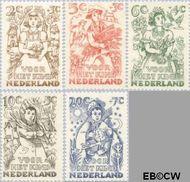 Nederland NL 544#548  1949 Jaargetijden   cent  Gestempeld